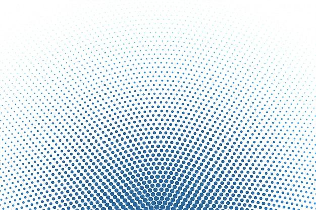 Fondo blanco con fondo de semitono redondo azul