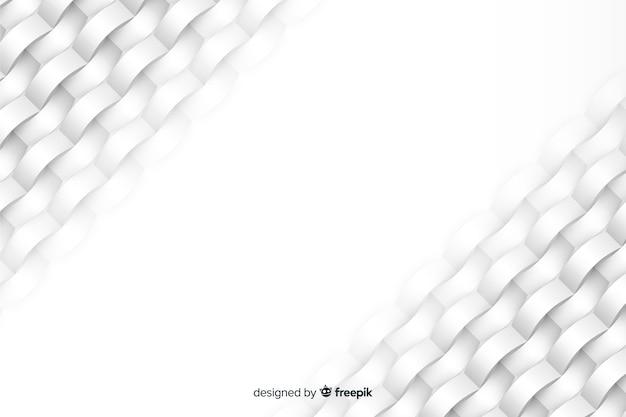 Fondo blanco formas geométricas en papel estilo