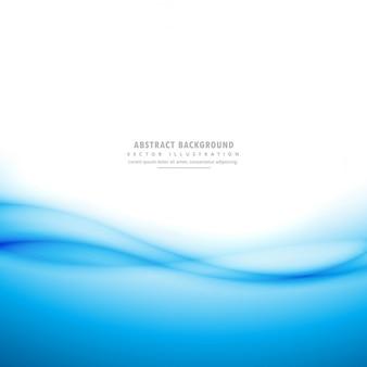 Fondo blanco con formas onduladas abstractas azules