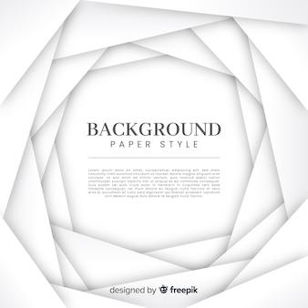 Fondo blanco con formas tridimensionales de papel