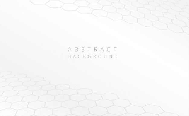 Fondo blanco geométrico abstracto