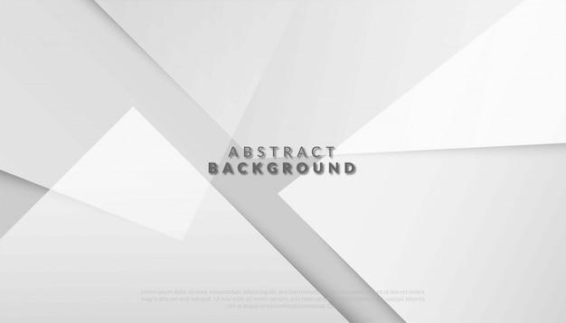 Fondo blanco y gris geométrico abstracto. ilustración