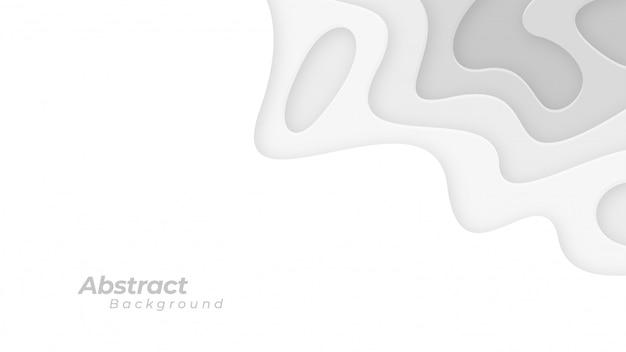 Fondo blanco y gris con textura ondulada.