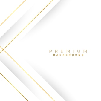 Fondo blanco con líneas geométricas doradas