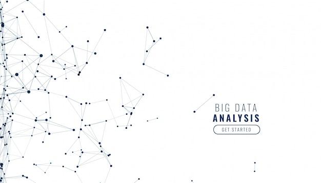 Fondo blanco con líneas de malla de red de tecnología digital
