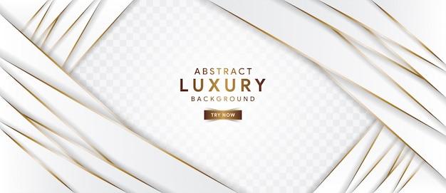 Fondo blanco de lujo abstracto con línea dorada