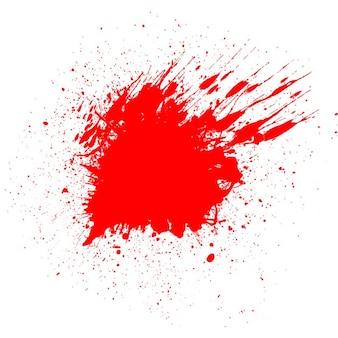 Fondo blanco con una mancha de sangre para halloween