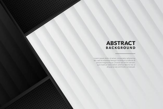 Fondo blanco negro abstracto geométrico moderno