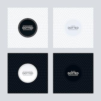 Fondo blanco y negro con texturas circulares punteadas