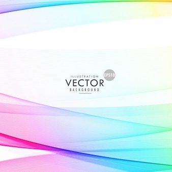 Fondo blanco con ondas coloridas