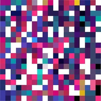Fondo blanco con píxeles a todo color