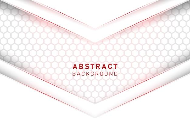 Fondo blanco y rojo de lujo abstracto.