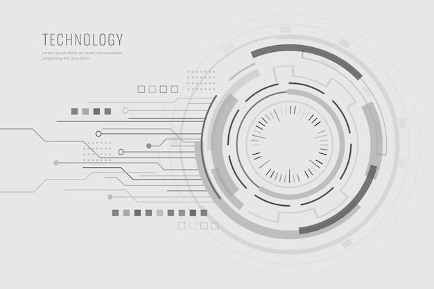 Fondo blanco de tecnología digital