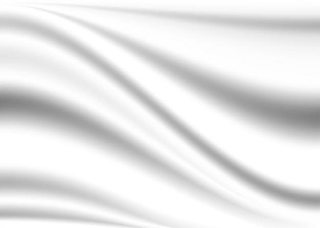 Fondo blanco. tela drapeada borrosa curvada