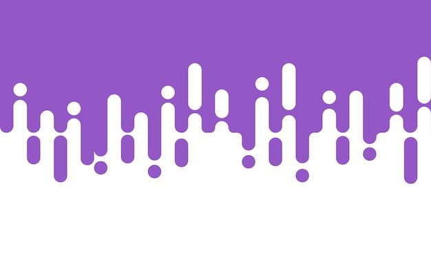 Fondo blanco con transición de semitono de líneas redondeadas de color púrpura claro abstracto