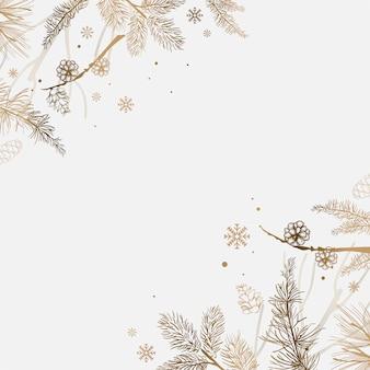 Fondo blanco con vector de decoración de invierno