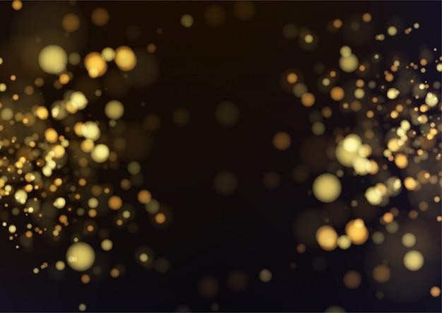 Fondo bokeh abstracto de oro