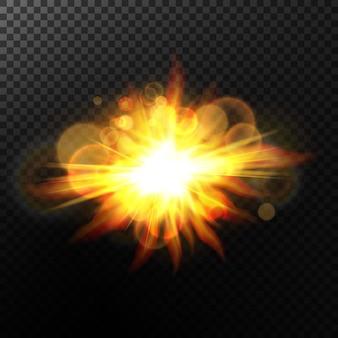 Fondo bokeh con destellos.efecto de luz.partículas brillantes.