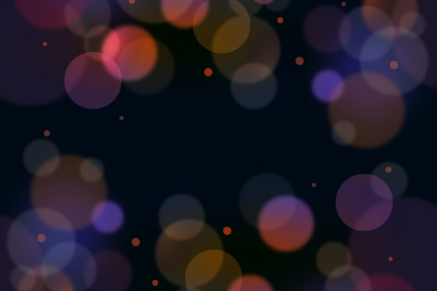Fondo bokeh con luces borrosas