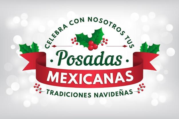 Fondo bokeh posadas mexicanas