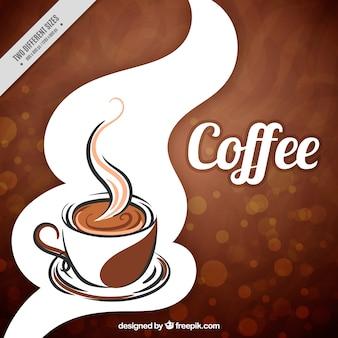Fondo bokeh de taza de café