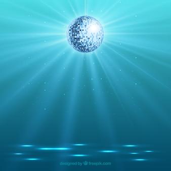 Fondo de bola de discoteca brillante