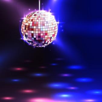 Fondo de bola de discoteca