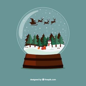 Fondo de bola de nieve navideñas