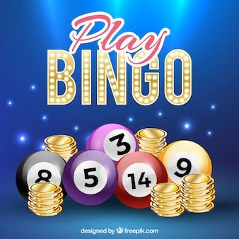 Fondo de bolas de bingo en estilo realista