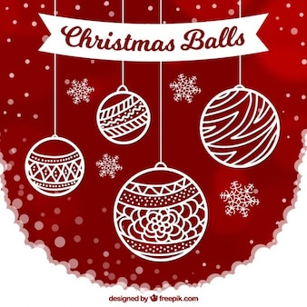 Fondo de bolas de navidad ornamentales