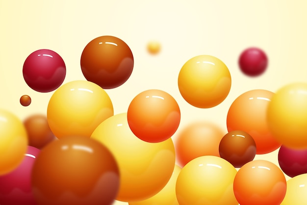 Fondo de bolas de plástico realista brillante