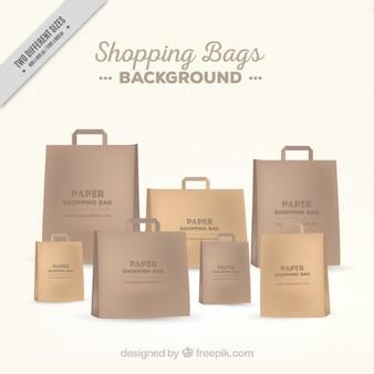 Fondo de bolsas de papel elegantes