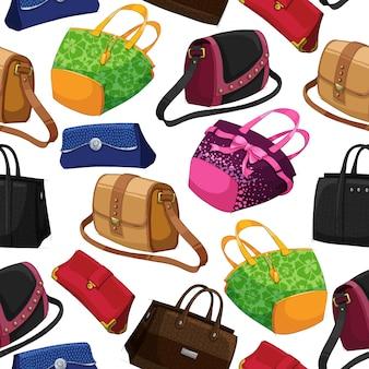 Fondo de bolsos de moda de mujer perfecta