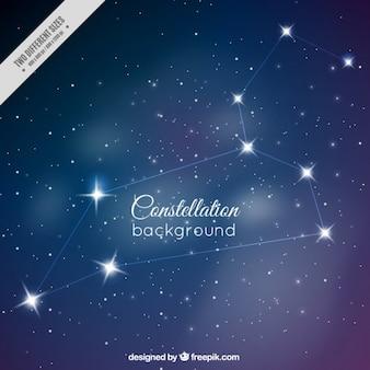 Fondo de bonita constelación en el cielo