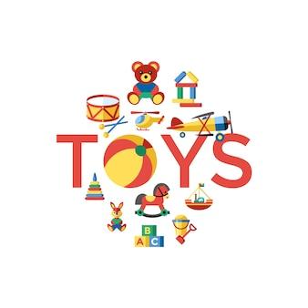 Fondo bonito de juguetes
