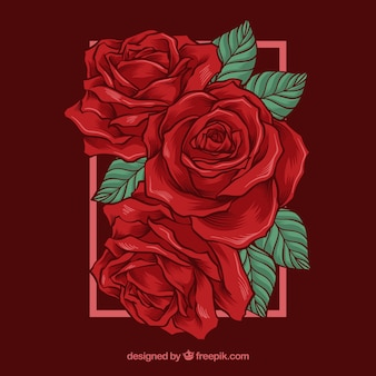 Fondo bonito con rosas rojas