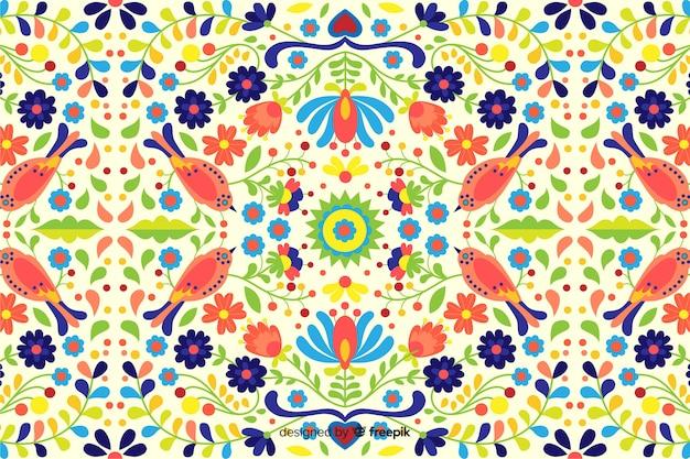 Fondo bordado floral hecho a mano