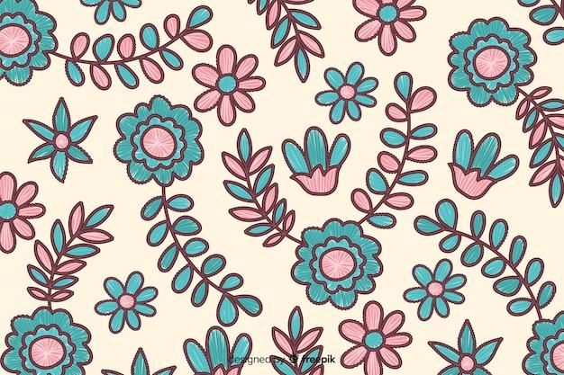 Fondo de bordado floral
