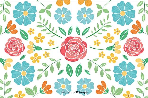 Fondo de bordado de flores