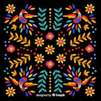 Fondo bordado tradicional mejicano