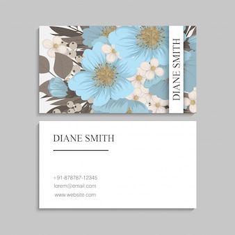 Fondo de borde floral - flores de color azul claro