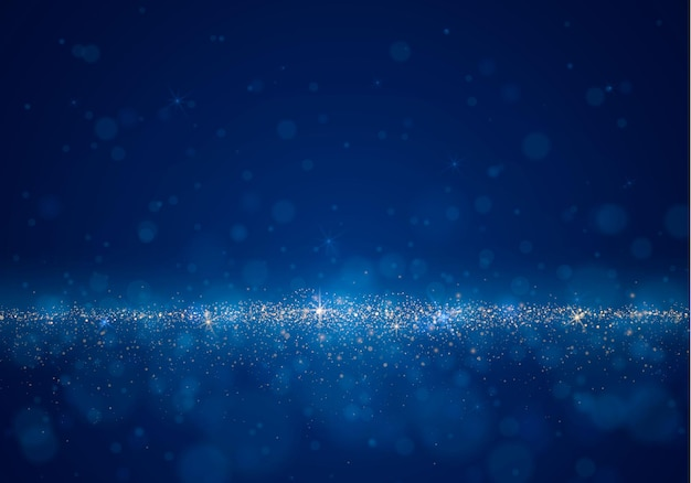 Fondo borroso abstracto con resplandor de luz, bokeh y partículas brillantes. efectos luminosos de flash.