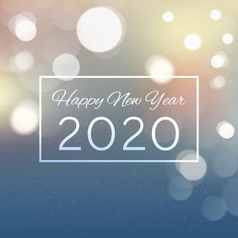 Fondo borroso año nuevo 2020