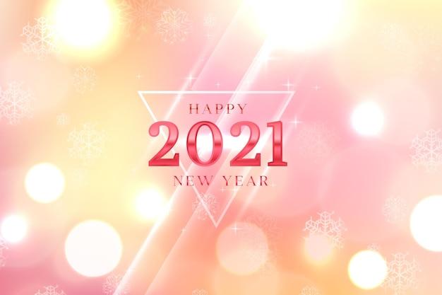 Fondo borroso año nuevo 2021