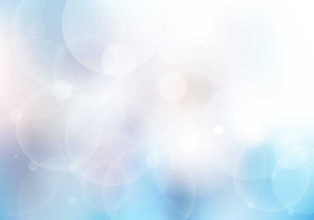 Fondo borroso azul abstracto con el bokeh