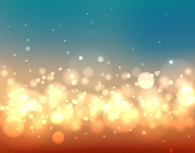 Fondo borroso colorido abstracto con luces y bokeh