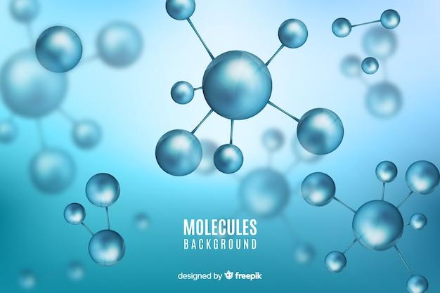 Fondo borroso de las moléculas