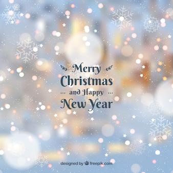 Fondo borroso feliz navidad y feliz año nuevo