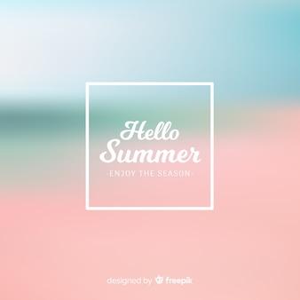 Fondo borroso de hello summer