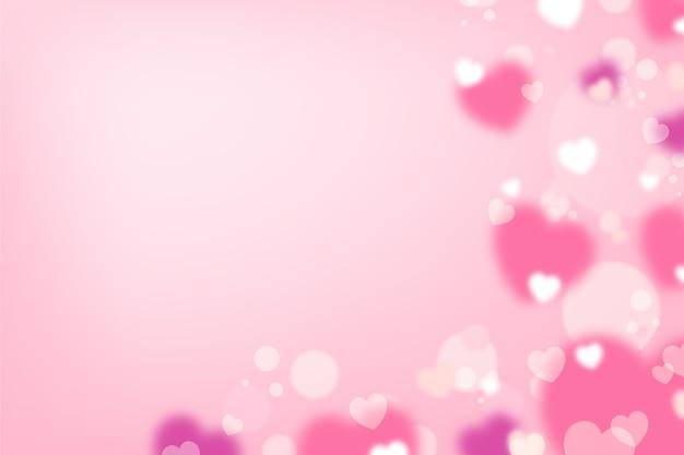 Fondo borroso de san valentín